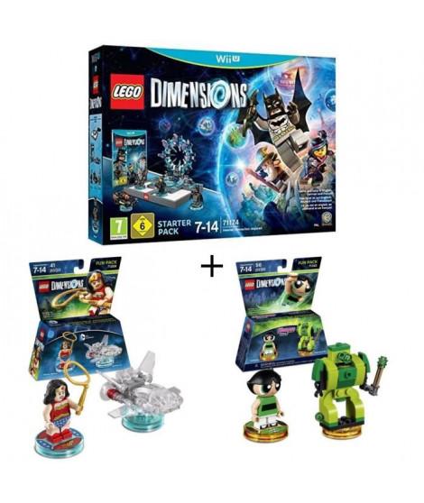 Pack LEGO: Starter Pack Wii U Lego Dimensions + 2 Figurines LEGO Dimensions: Wonder Woman + Powerpuff Girls