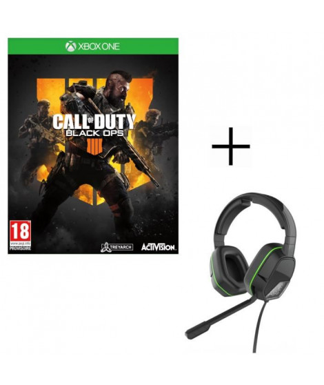 Call of Duty Black OPS 4 Jeu Xbox One + Casque Afterglow LVL3
