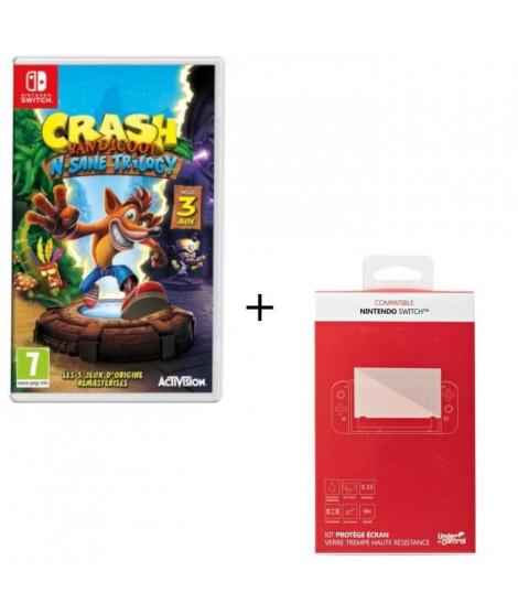 CBandicoot N.Sane Trilogy + Kit protege écran verre trempé Nintendo Switch