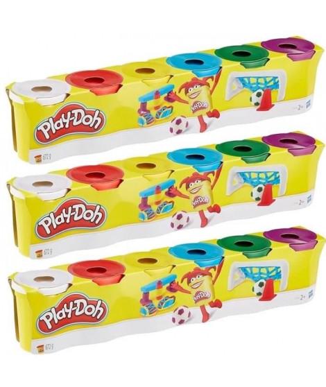 PLAY-DOH - 3 x 6 Pots de Pâte a Modeler - Couleurs Primaires