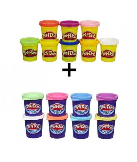 PLAY-DOH - Pack de 8 Pots + 8 Pots Play-Doh Plus