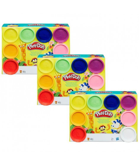 PLAY-DOH - Pack de 3 x 8 Pots de Pâte a Modeler  24 POTS !