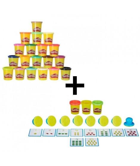 PLAY-DOH MODELER & APPRENDRE - Les Chiffres + Super Pack Coloré 20 Pots