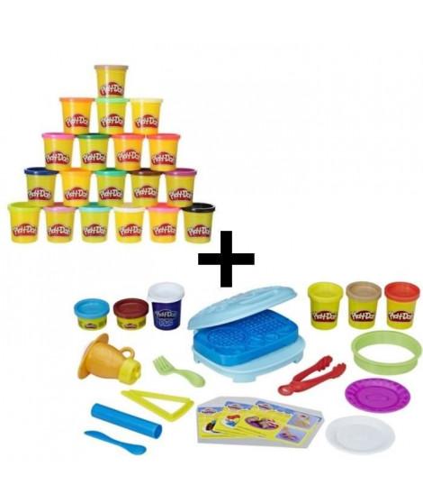 PLAY-DOH - Le Petit Déjeuner Gourmand + Super Pack Coloré 20 Pots
