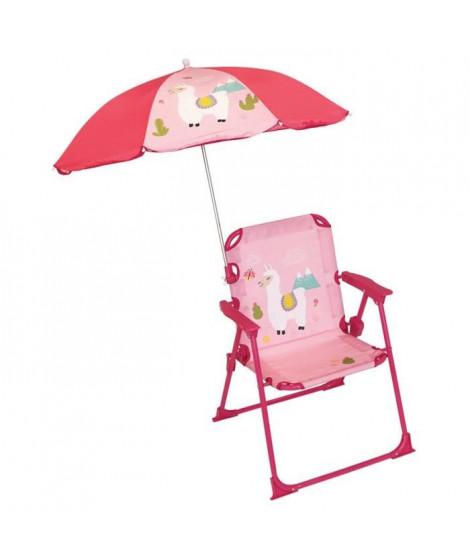 FUN HOUSE 713142 LOLA LAMA Chaise pliable avec parasol pour enfant