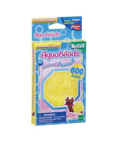 AQUABEADS Perles Multi-Facettes Jaunes