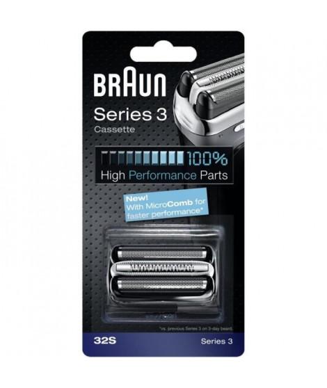 Braun Piece De Rechange 32S Argentée Pour Rasoir - Compatible avec les rasoirs Series 3