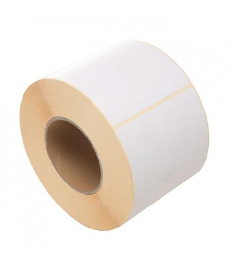 2 rouleaux de 500 étiquettes thermiques blanches a