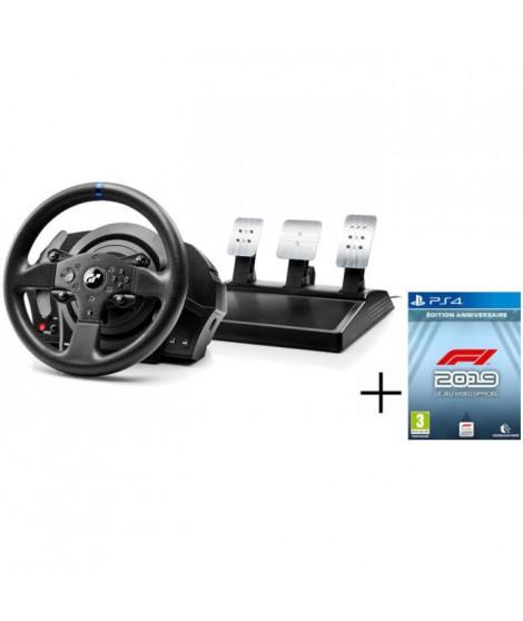 THRUSTMASTER Volant pour jeux vidéo T300RS GT Edition - Pour PC/PS3/PS4 + CODEMASTERS F1 2019 Édition Anniversaire Jeu PS4