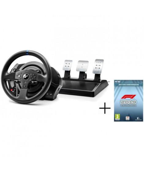 THRUSTMASTER Volant pour jeux vidéo T300RS GT Edition - Pour PC/PS3/PS4 + CODEMASTERS F1 2019 Édition Anniversaire Jeu PC