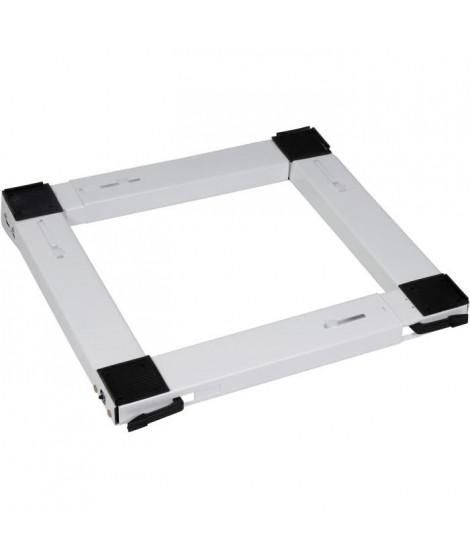 MELICONI 00682 Support metallique mobile universel pour appareil électroménager-Blanc