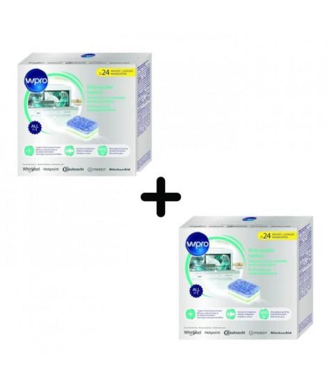 PACK WPRO TAB100 - 2 X 24 tablettes tout en 1 pour lave-vaisselle