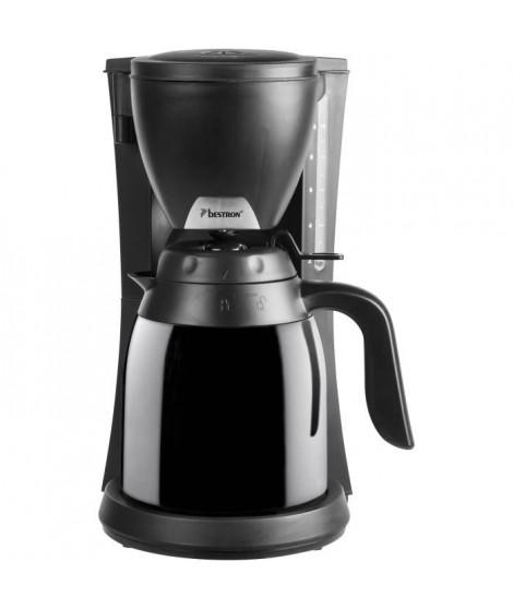 BESTRON ACM730TD Cafetiere filtre isotherme - 2 carafes - 10 tasses - 800W - Arret automatique - Noir