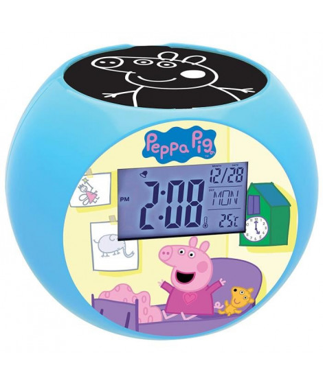 LEXIBOOK - PEPPA PIG - Radio Réveil Enfant avec Projections d'Images