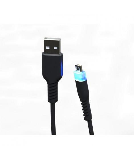 Câble de recharge 3m Micro USB Supersoft avec LED pour PS4 et Xbox One