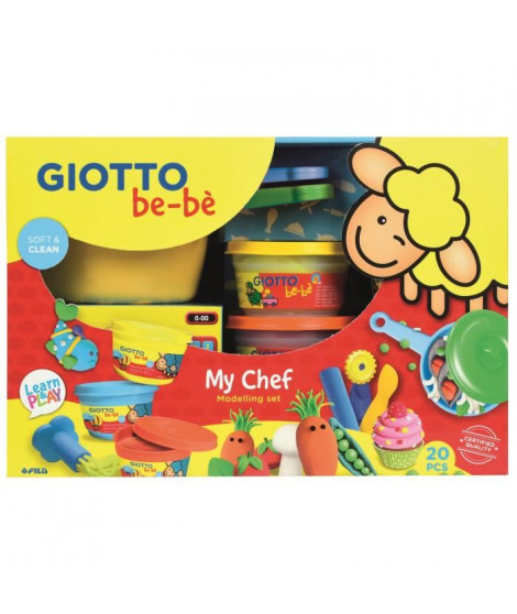 GIOTTO be-be Kit de modelage My chef - 20 pieces