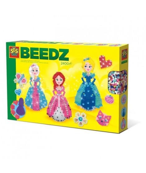 SES CREATIVE Beedz Boites de perles a repasser Princesses avec diamants