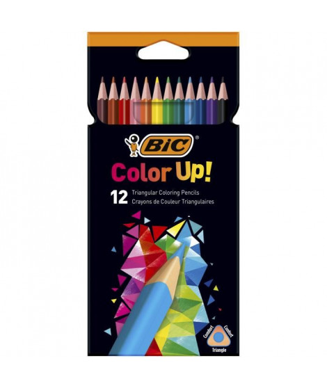BIC Color Up Crayons de Couleur - Coloris Assortis, Etui Carton de 12