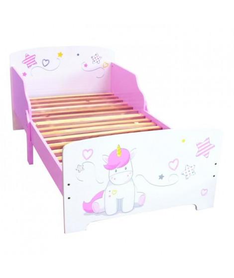 Fun House Licorne lit 140x70 cm avec lattes pour enfant