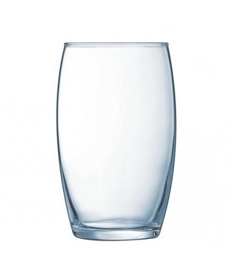 ARCOROC Boîte de 6 chopes forme haute Vina 36 cl transparent