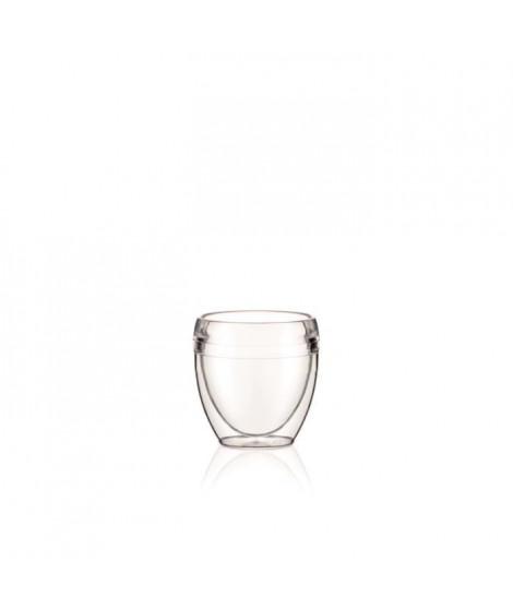 BODUM - PAVINA OUTDOOR - Set 2 gobelets double paroi plastique - PC - Incassable - 0.25 l