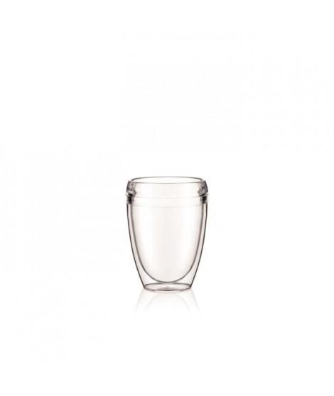 BODUM - PAVINA OUTDOOR - Set 2 gobelets double paroi plastique - PC - incassable - 0.35 l