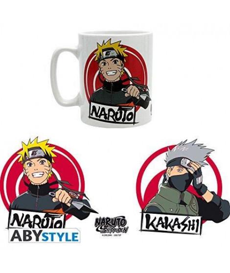 Mug Naruto Shippuden - 460 ml - Naruto & Kakashi - avec boîte - ABYstyle