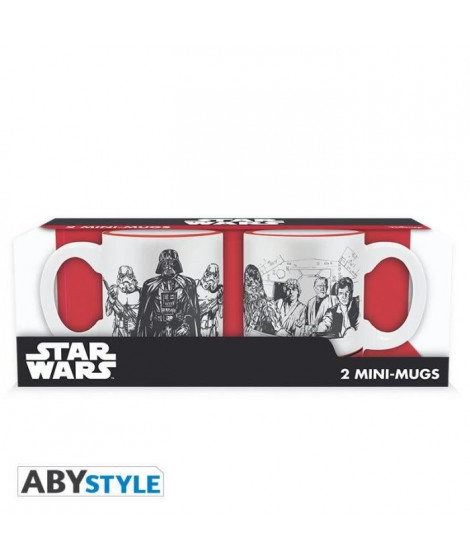 Set de 2 mugs Star Wars - 2 mugs a espresso - 110 ml - Empire VS Rebel - ABYstyle