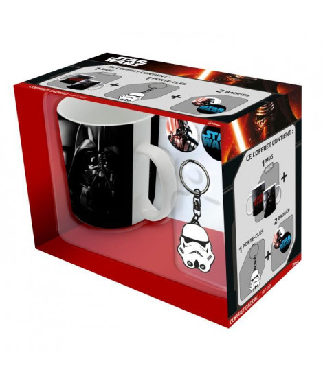 Pack Mug + Porte-clés + Badges Star Wars - Mug Troop -Vador + Porte-clés Trooper + Badges - ABYstyle