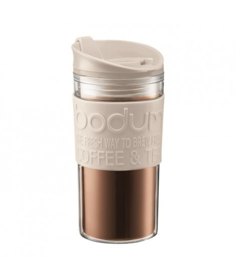 BODUM TRAVEL MUG Mug de voyage isotherme - 0,35 L - Blanc