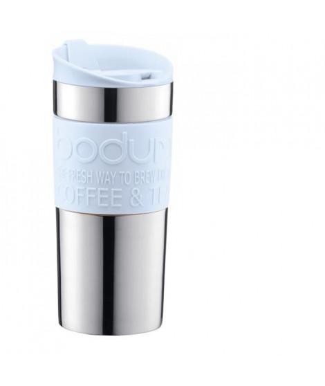 BODUM TRAVEL MUG Mug de voyage isotherme - Inox double paroi - Couvercle a clapet - 0,35 L - Bleu pastel