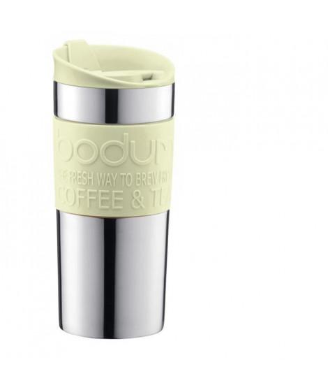 BODUM TRAVEL MUG Mug de voyage isotherme - Inox double paroi - Couvercle a clapet - 0,35 L - Vert pastel
