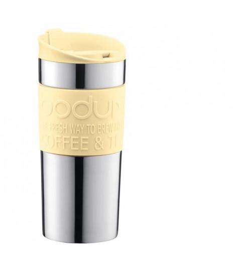 BODUM TRAVEL MUG Mug de voyage isotherme - Inox double paroi - Couvercle a clapet - 0,35 L - Jaune pastel