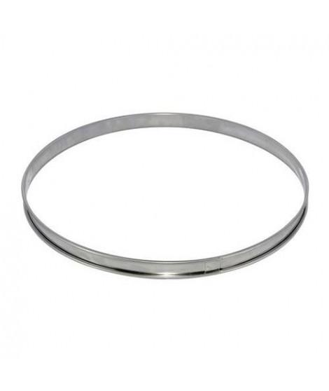Cercle a tarte en inox -  Ø 8 x H 2 cm - Gris - Tous feux dont induction