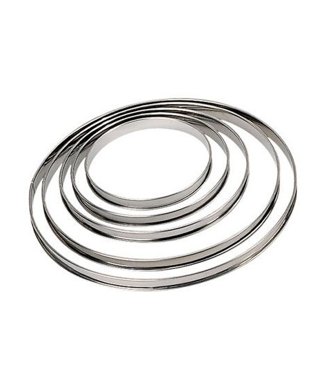 DE BUYER Cercle a tarte - Inox - Ø 22 x H 2 cm - Tous feux dont induction
