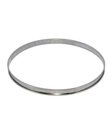 DE BUYER Cercle a tarte - Inox - Ø 24 x H 2 cm - Tous feux dont induction