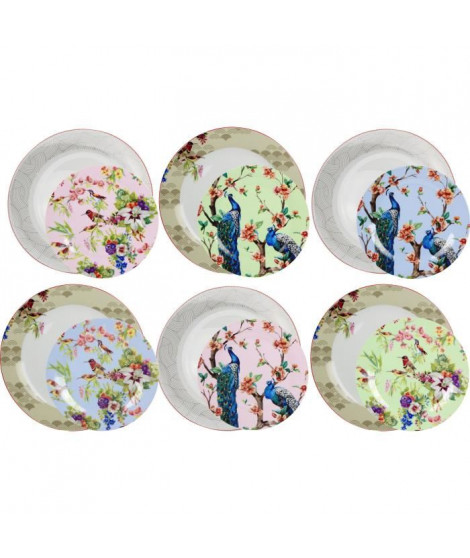 "ARD'TIME EC-OZ12AS Service de table 12 pieces  "" garden life """