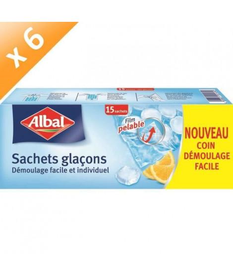 ALBAL Sachets pour glaçons - 15 pieces - Lot de 6