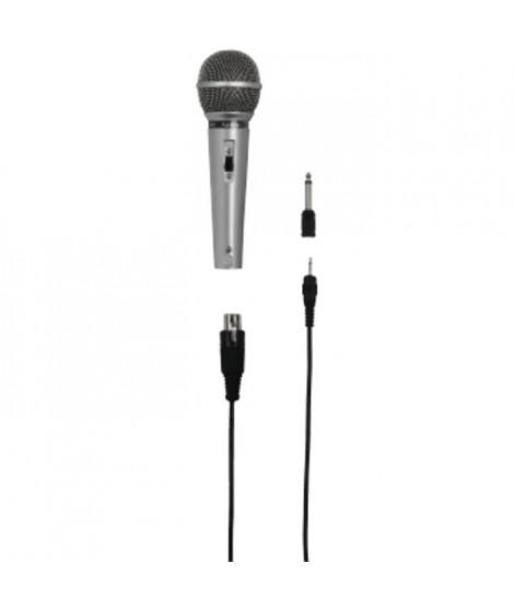 HAMA N DM 40 Micro dynamique - Jack 3,52mm mâle, Jack 6,35mm mâle, XLR femelle - Gris