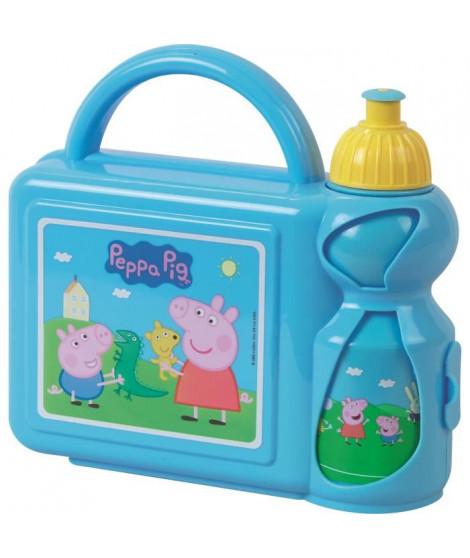 Fun House Peppa Pig ensemble gouter comprenant un sac bandouliere, une gourde et une boîte goûter pour enfant