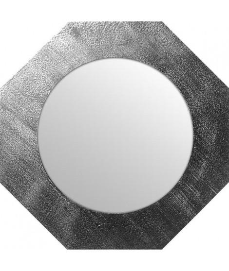 Miroir d'intérieur ortogonal - Mdf - Ø40 cm - Argent métalisé