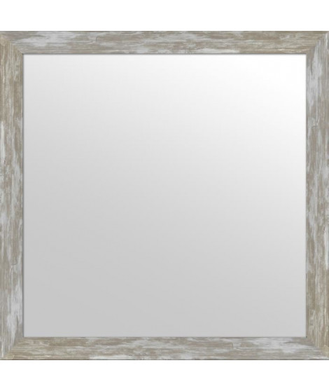 Miroir 40 x 12 cm - Intérieur 50 x 50 cm - Gris argenté