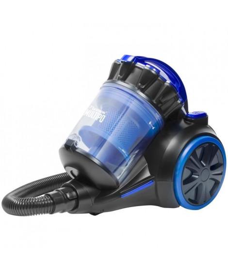 BESTRON Aspirateur sans sac AMC1000B - Classe énergétique A - Multi-cyclone en bleu