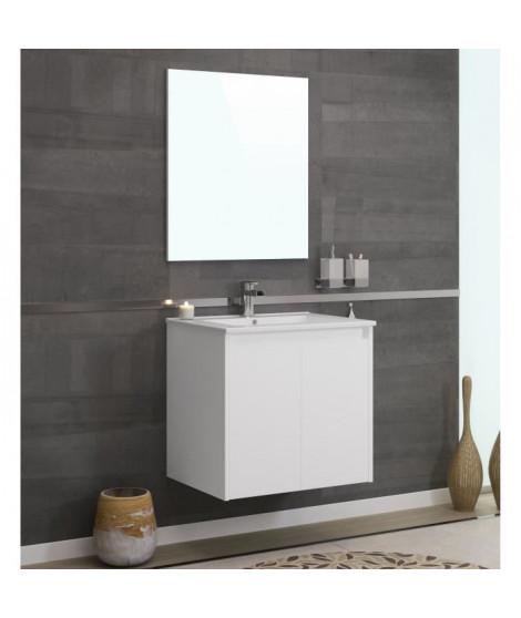 DELTA Ensemble salle de bain simple vasque L 60 cm - Blanc mat
