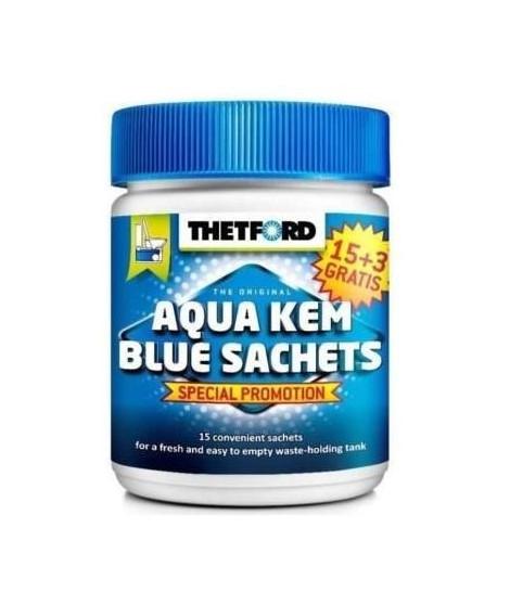 THETFORD Sachets Aqua-Kem bleu - Traitement des toilettes - x 18