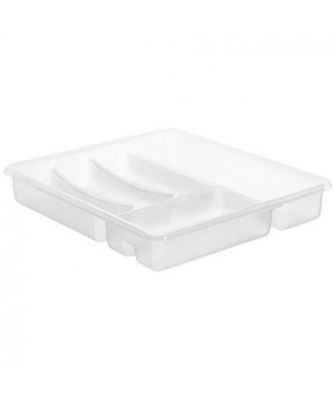 SUDIS Range Couverts 6 compartiments 7531002 39x32x5 cm blanc