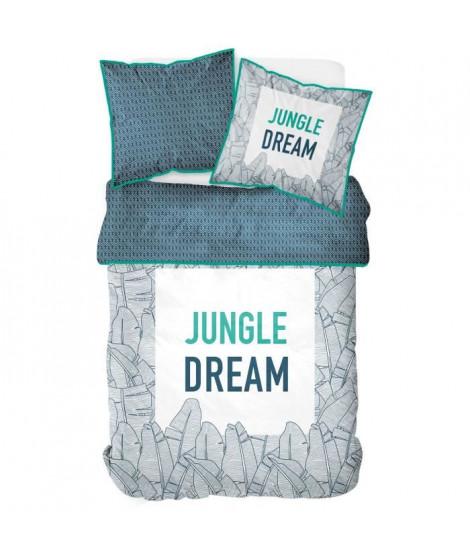TODAY TROPIK SUMMER Parure de lit Jungle Dream 100% coton - 1 Housse de couette 240 x 260 cm et 2 taies d'oreiller 63 x 63 cm…