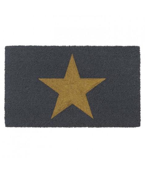 Paillasson brosse RUCO a motif étoile doré 45x75cm - Fibre de coco