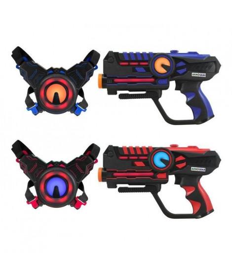 DARPEJE Laser Battle - Set 2 joueurs équipe bleu/rouge - ODAR77