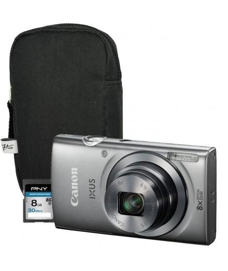 Canon Ixus 160 Compact Gris + Etui + Carte 8 Go